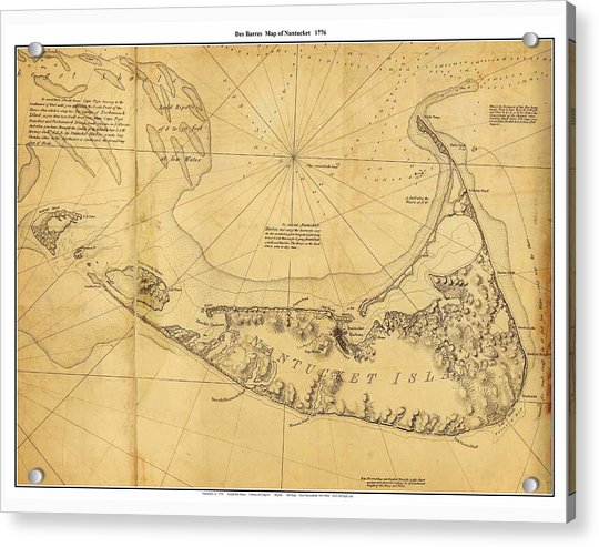 Antique Map Of Nantucket Acrylic Print