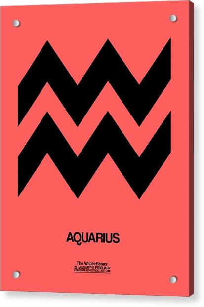 Aquarius Zodiac Sign Black Acrylic Print