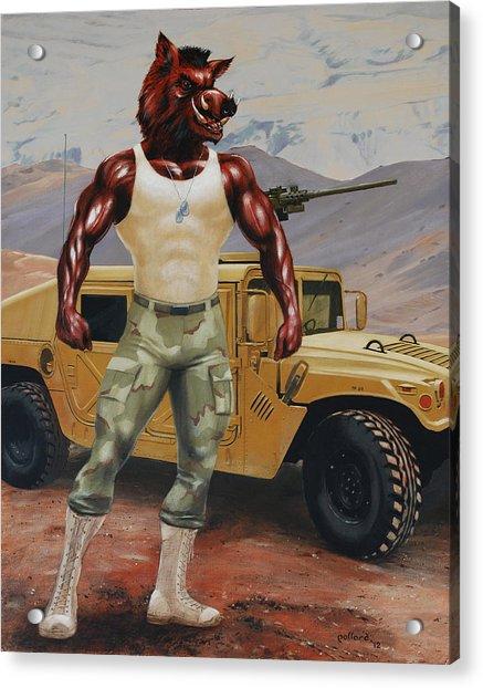 Arkansas Soldier Acrylic Print