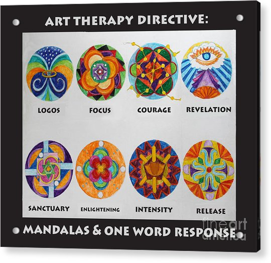 Art Therapy Directive Mandala Acrylic Print