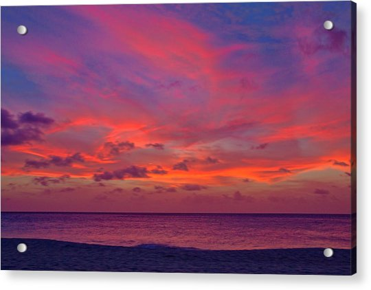 Acrylic Print featuring the photograph Aruba Sunset by Jemmy Archer
