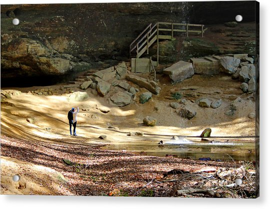 Ash Cave In Hocking Hills Acrylic Print