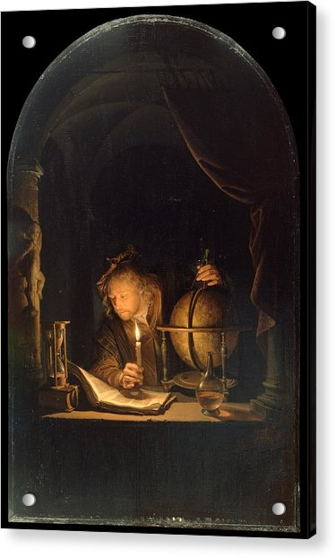 Astronomer By Candlelight Acrylic Print