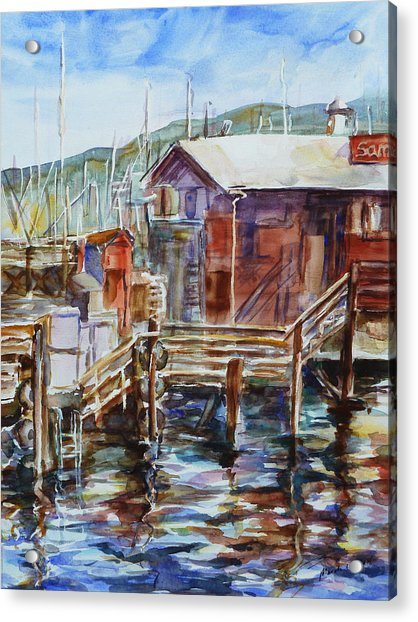 At Monterey Wharf Ca Acrylic Print