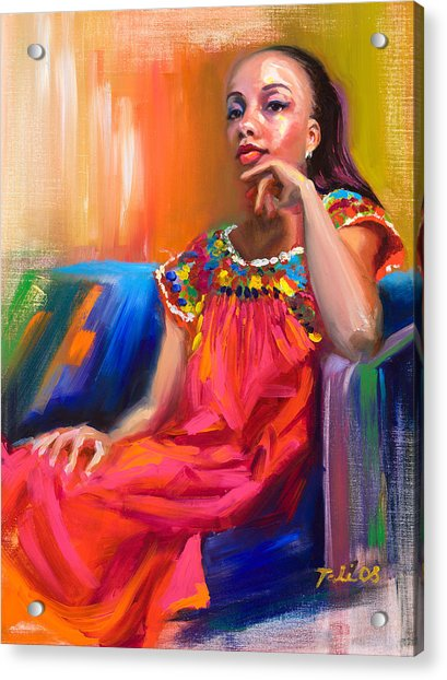 Acrylic Print featuring the painting Athena by Talya Johnson