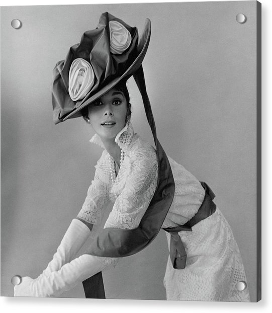 Audrey Hepburn In Costume For My Fair Lady Acrylic Print by Cecil Beaton