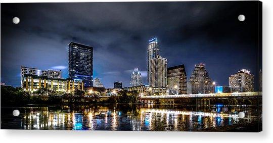Austin Skyline Hdr Acrylic Print
