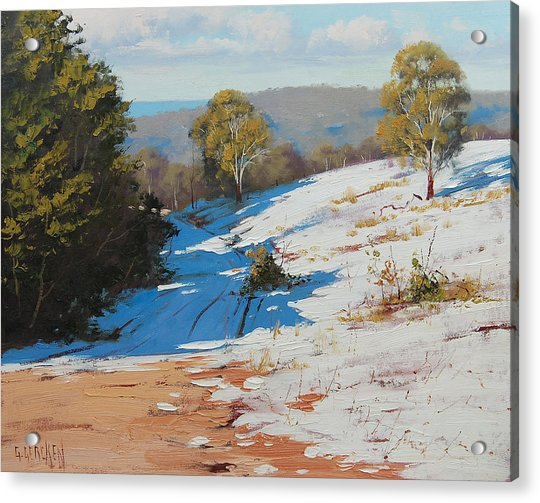 Australian Winter Snow Acrylic Print