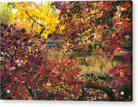 Autumn At The Park Acrylic Print