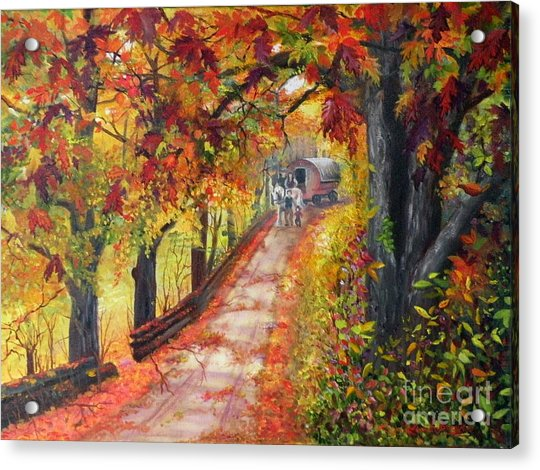 Autumn Dreams Acrylic Print