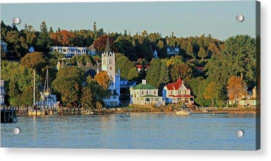 Autumn On Mackinac Island Acrylic Print