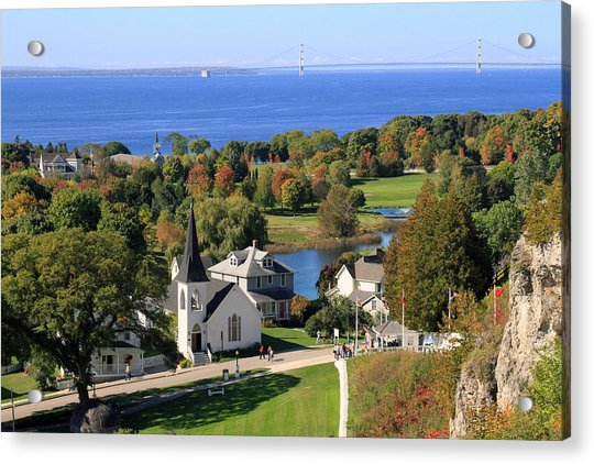 Autumn View On Mackinac Island Acrylic Print