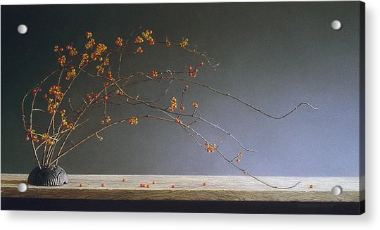 Autumns Bittersweet Acrylic Print by Barbara Groff