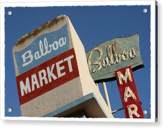 Balboa Market Acrylic Print