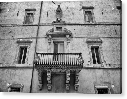 Balcony In Assisi Acrylic Print