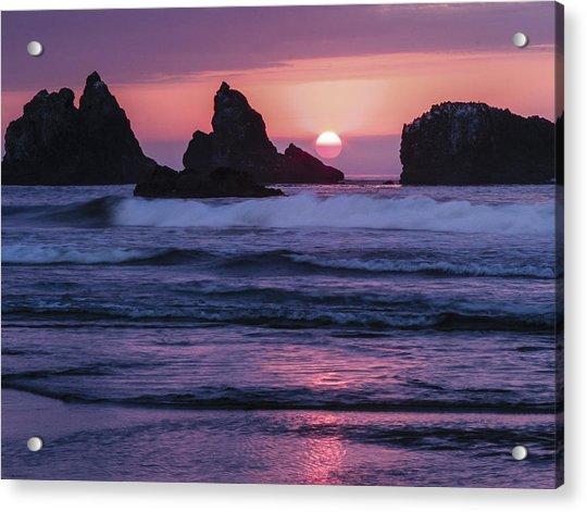 Bandon Beach Sunset Acrylic Print