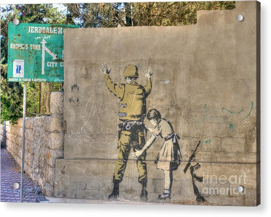 Banksy In Bethlehem 2 Acrylic Print