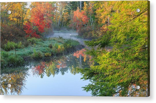 Bantam River Autumn Acrylic Print
