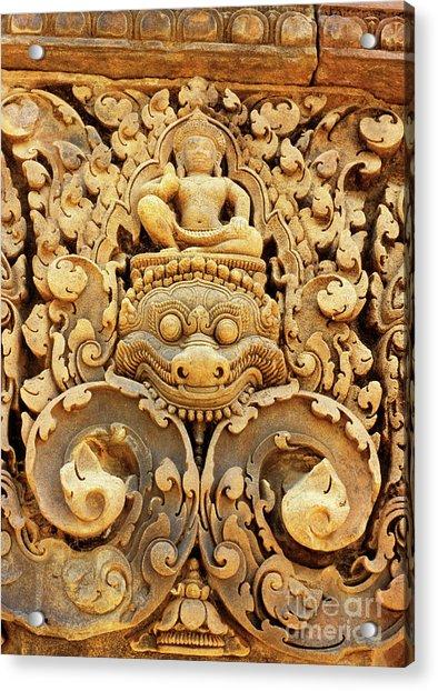 Banteay Srei Carving 01 Acrylic Print