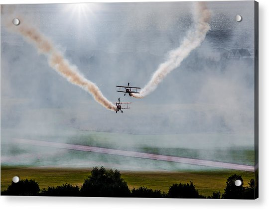 Acrylic Print featuring the photograph Barnstormer Late Afternoon Smoking Session by Chris Lord