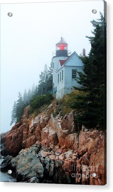Acrylic Print featuring the photograph Bass Harbor Head Lighthouse by Jemmy Archer