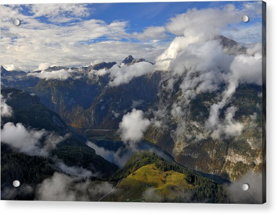 Bavarian Alps At Lake Konigssee Acrylic Print