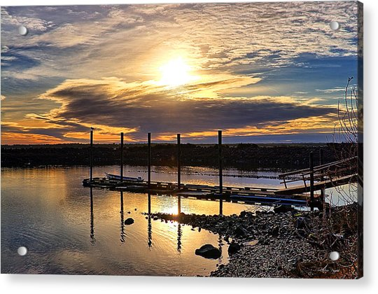 Bay Sunset Acrylic Print