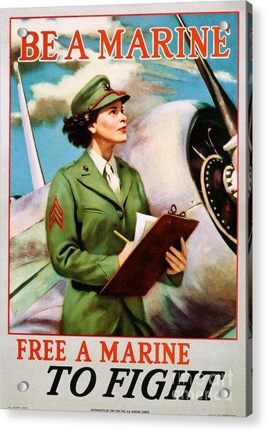 Be A Marine - Free A Marine To Fight Acrylic Print