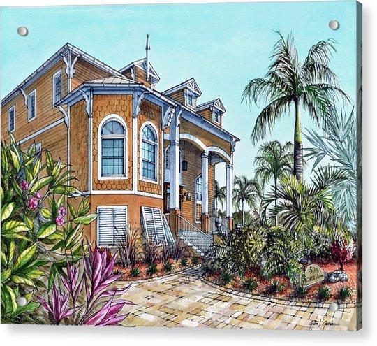 Magnolia Beach House Acrylic Print