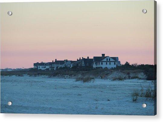 Acrylic Print featuring the photograph Beach Houses by Cynthia Guinn