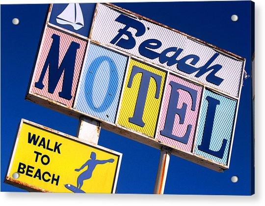 Beach Motel Acrylic Print