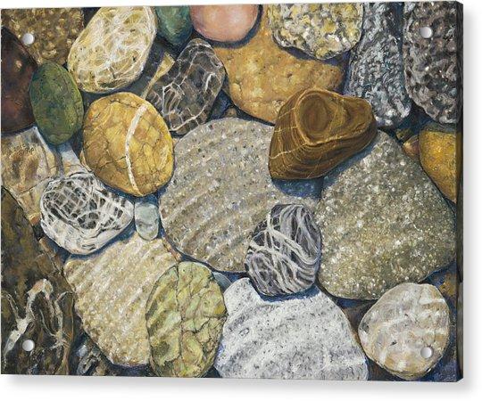 Beach Rocks Of The Puget Sound  Acrylic Print