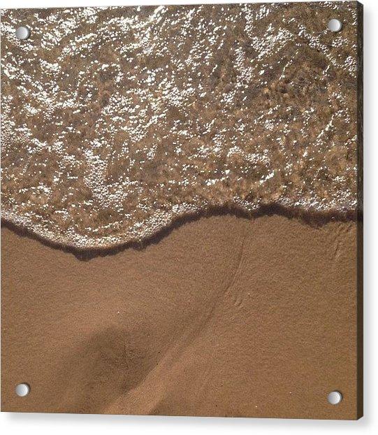 Beach Where The Water Meets The Sand Acrylic Print