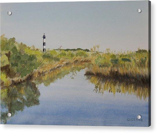 Beacon On The Marsh Acrylic Print