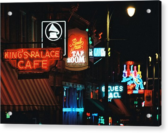 Beale Street Acrylic Print
