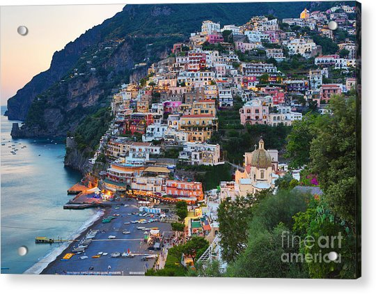 Beauty Of The Amalfi Coast  Acrylic Print