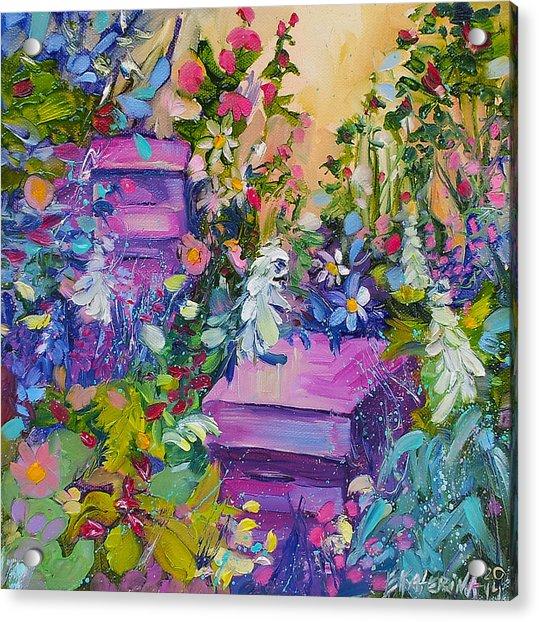 Beehives In The Garden Acrylic Print
