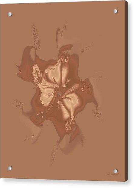 Beige Satin Morning Glory Acrylic Print