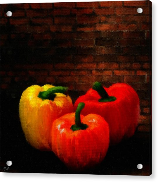Bell Peppers Acrylic Print