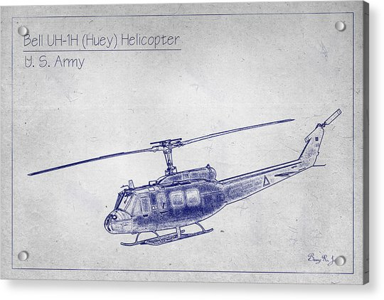 Bell Uh-1h Huey Helicopter  Acrylic Print