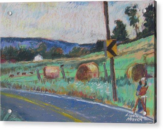 Berkshire Mountain Painter Acrylic Print