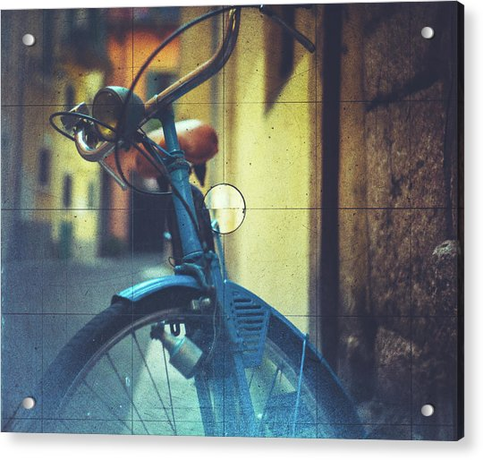 Bicycle Seen Through A Vintage Camera Acrylic Print by Moreiso