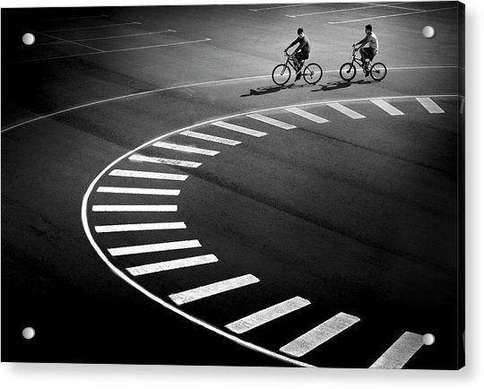 Bicycle Track Acrylic Print