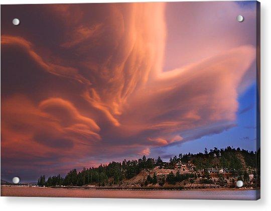 Big Bear Lake Storm Acrylic Print