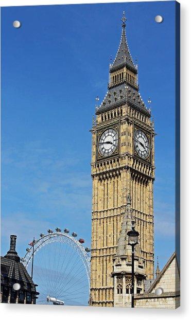 Big Ben And London Eye Acrylic Print
