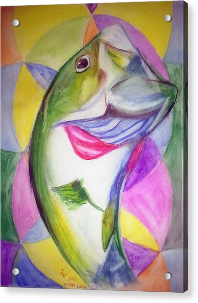 Big Mouth Bass Acrylic Print