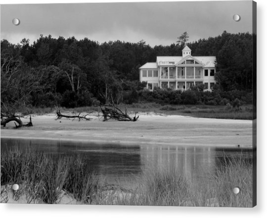 Acrylic Print featuring the photograph Big White House by Cynthia Guinn