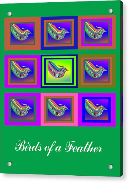 Acrylic Print featuring the digital art Birds Of A Feather 2 by Stephen Coenen