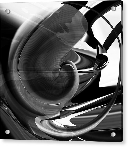 Black And White Future Abstract Acrylic Print