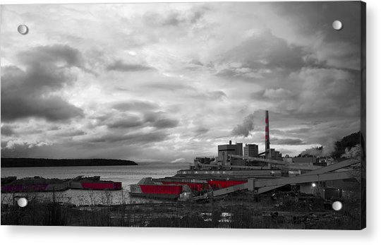 Black And White Mill Acrylic Print
